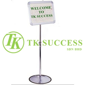 Stainless Steel Adjustable A3 Sign Board stand (360 degree)