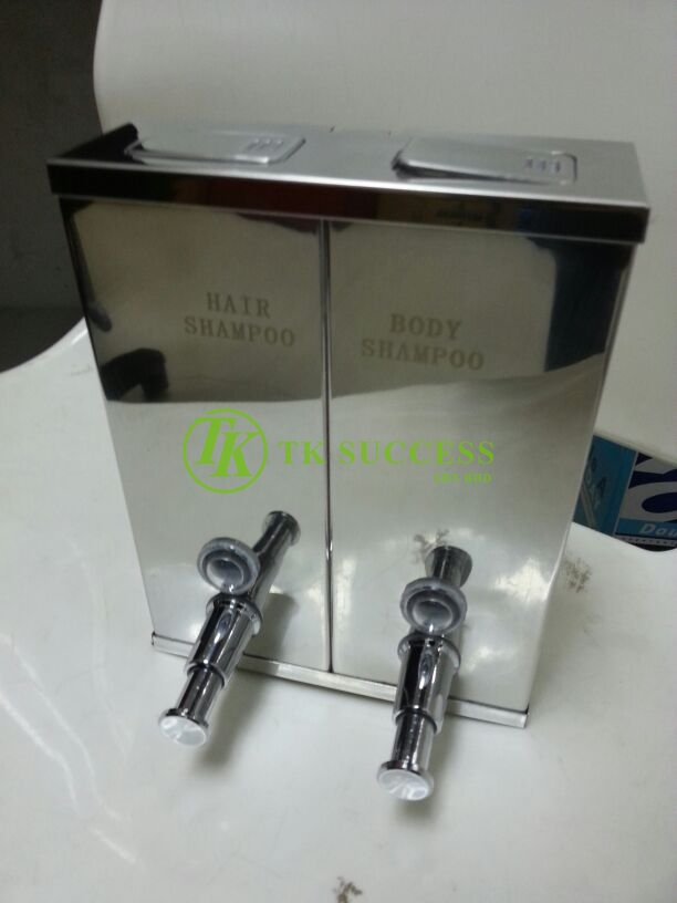 Stainless Steel Hair & Body Square Soap Dispenser