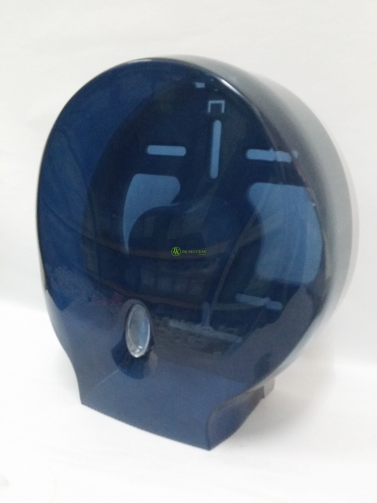 AZR Jumbo Roll Tissue Dispenser (ABS) -Transparent Dark Blue