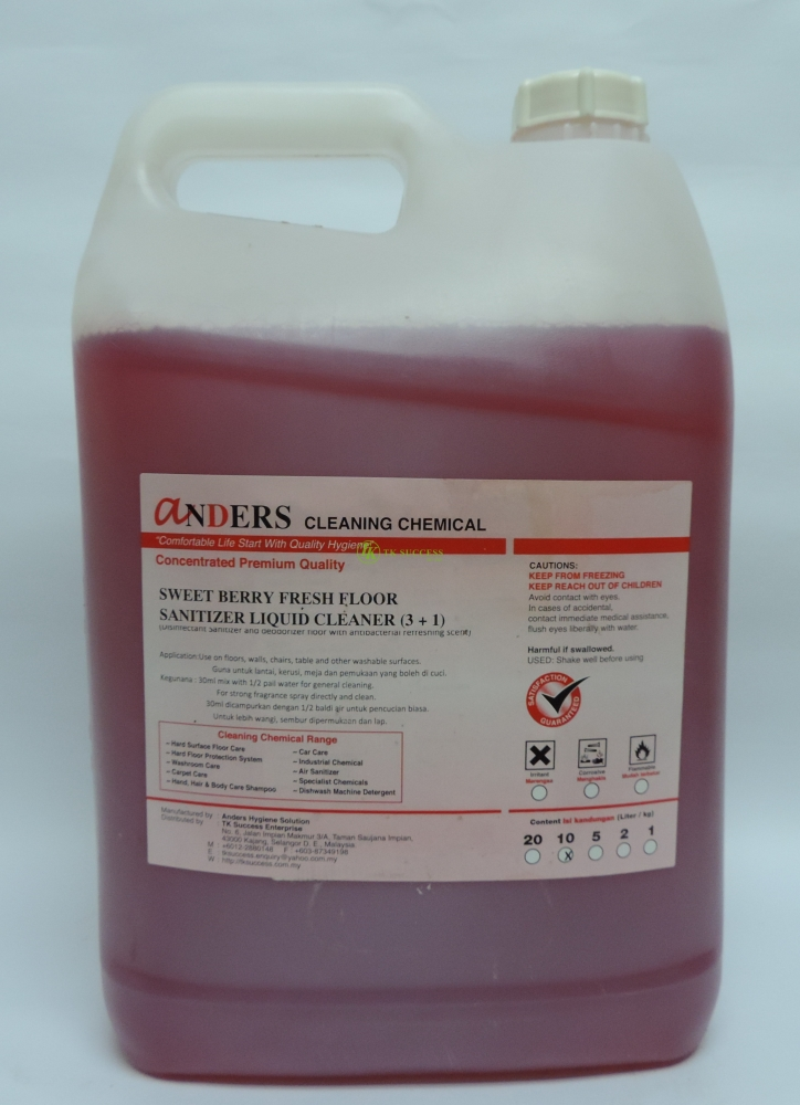 Anders Sweet Berry Fresh Cleaner (Disinfectant, Deodorizer & Cleaner)
