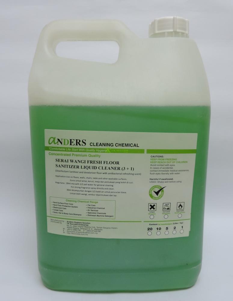 Anders Serai Wangi Fresh Floor(4 in 1) (Disinfectant, Repellant, Deodorizer & Cleaner)