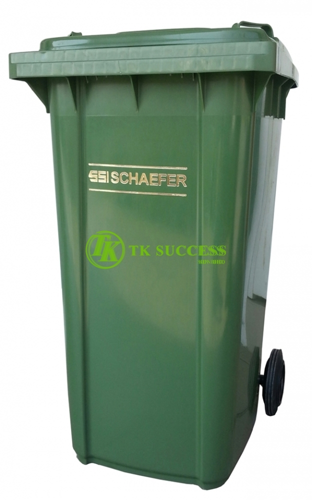Schaefer Mobile Garbage Bin 120 Litre Green (Germany) SIRIM