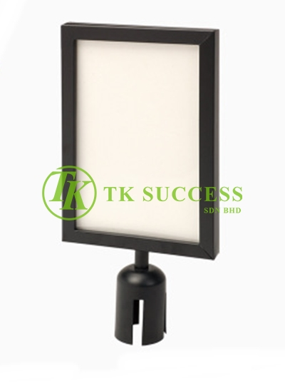 Black A4 Vertical Sign Board Frame (For Retractable Q Up Stand)
