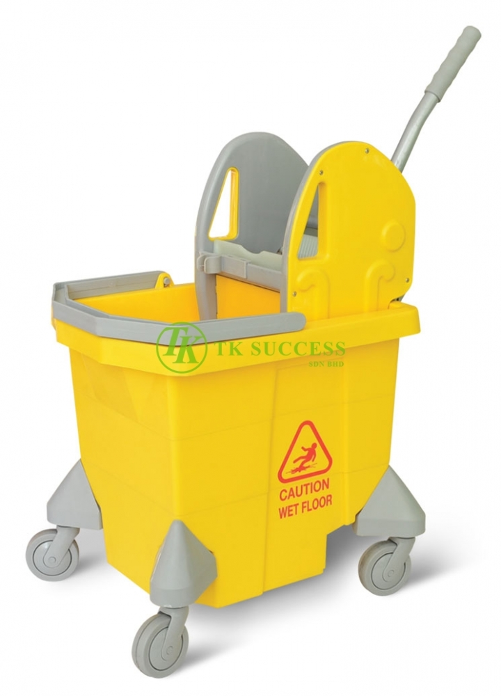 Anders 1033 Single Wringer Mop Bucket 32 (Down Press) Yellow