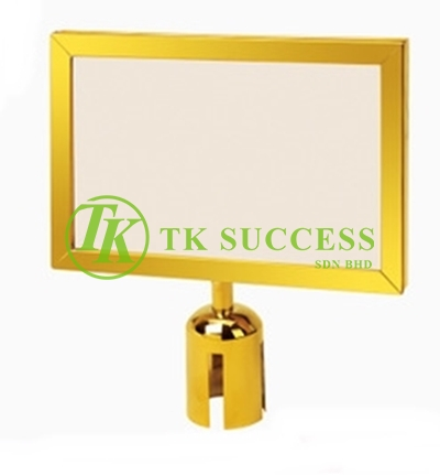 Gold Brass A4 Horinzontal Sign Board Stand Frame (For Retractable Q Up Stand)