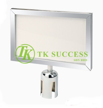 Stainless Steel A4 Horizontal Sign Board Frame (For Belt Q Up Stand)