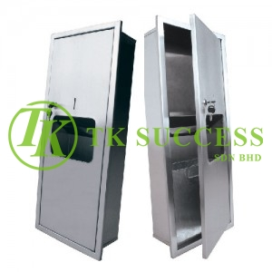Stainless Steel 2 in 1 Paper  Towel Dispenser & Disposal (Recessed)