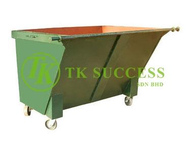 TOUGH-B Metal Leach Bin 1500 Litres (Green/ Blue)