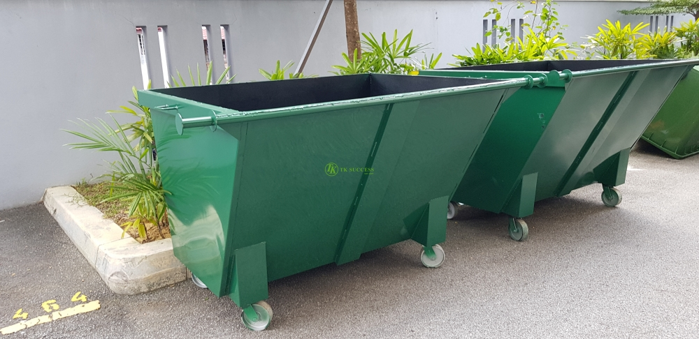 TOUGH-B Metal Leach Bin 1500 Litres (Green/ Blue)
