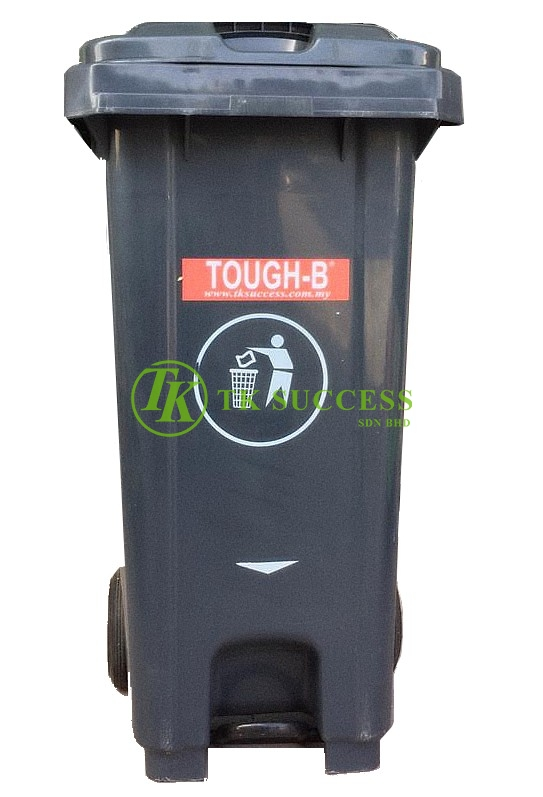 TOUGH-B Mobile Step On Bin 240 Litres