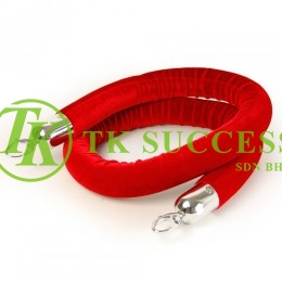 Velvet Rope Red 5' (Chrome)