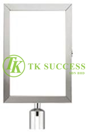 Stainless Steel A4 Vertical Sign Board Frame (For Belt Q Up Stand)