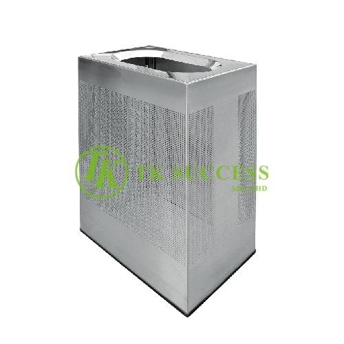 Stainless Steel Rectangular Waste Bin c/w Open Top