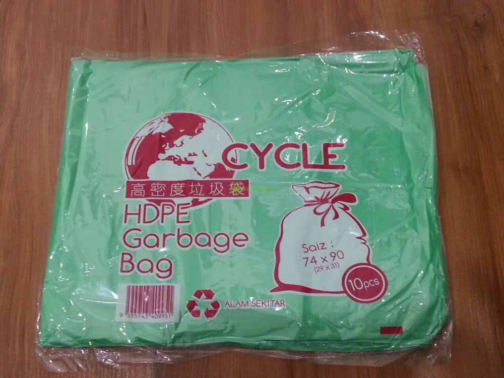 HDPE Garbage Bag (Green) 74 X 90cm