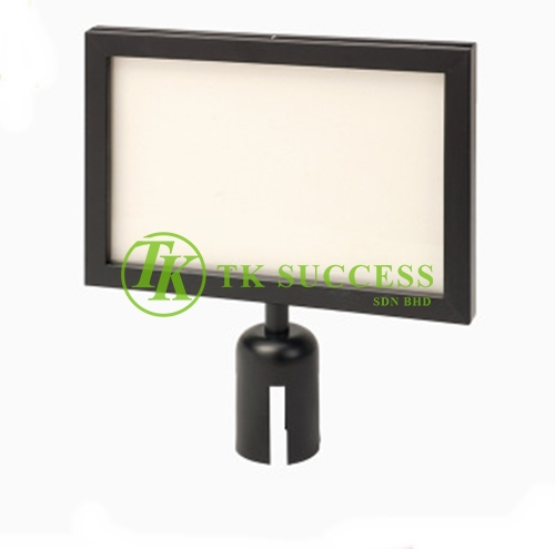 Black A4 Horinzontal Sign Board Frame (For Retractable Q Up Stand)