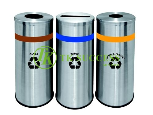 Round Recycle Bin 130