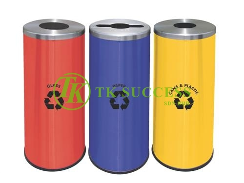 Round Recycle Bin 132
