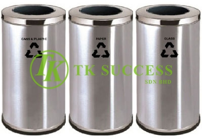 Stainless Steel Recycle Bin Open Top - 380