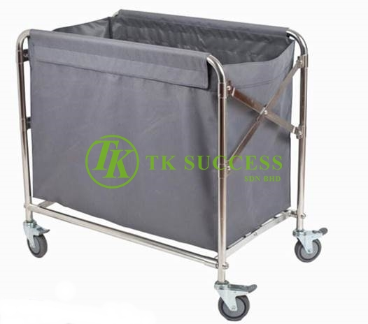 Stainess Steel Linen Laundry Trolley (Foldable)
