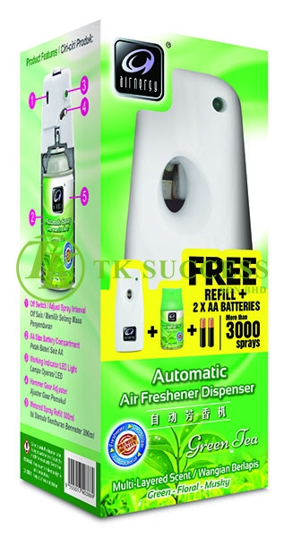 Automatic Air Freshener Dispenser Full Set (Refill and Battery Included)