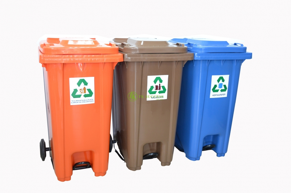 Recycle Pedal Bin 240 Litres