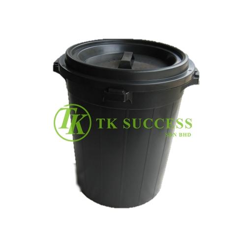 Outdoor Black Garbage Bin