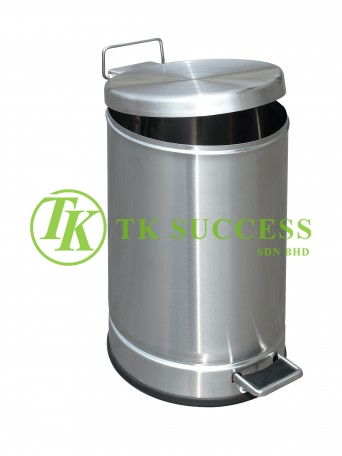 Stainless Steel Round Pedal Bin 10L