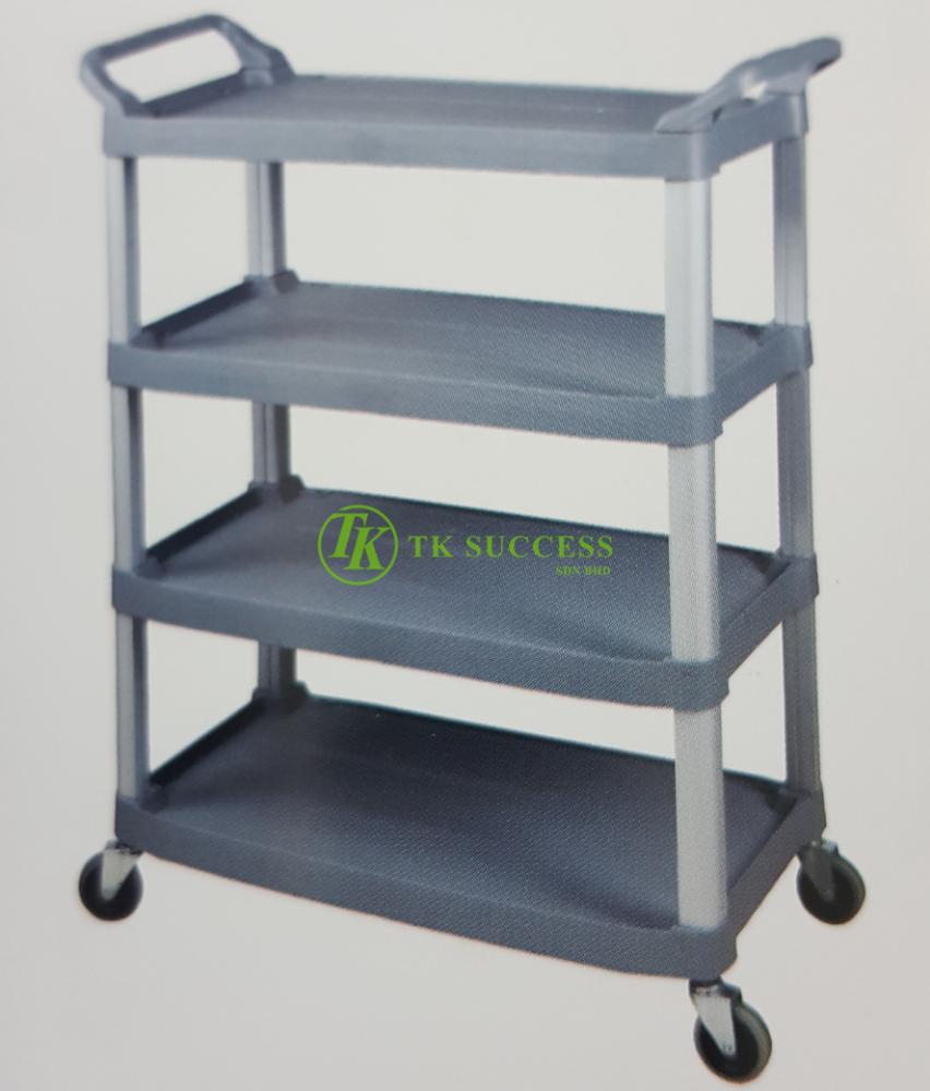 4 Tier Utilities Trolley (Grey)