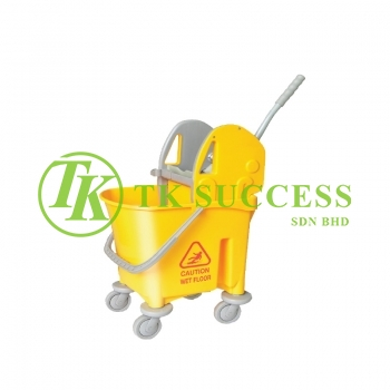 Anders 1032 Wringer Mop Bucket 22 (Down Press) -  Yellow