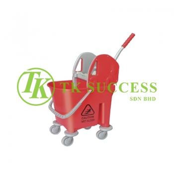 Anders 1032 Wringer Mop Bucket 22 (Down Press) -  Red