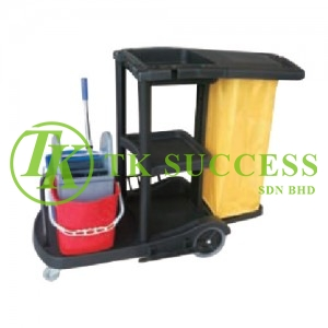 Anders Janitor Cart with Double Wringer Bucket 315 (Black)