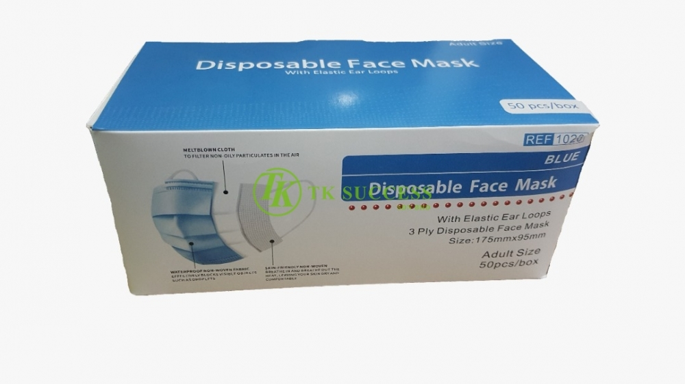 Disposable Face Mask 3ply (Ear Loop)