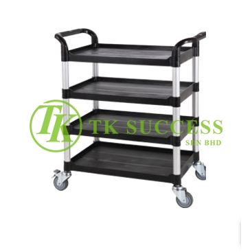 4 Tier Utilities Cart  (Black)