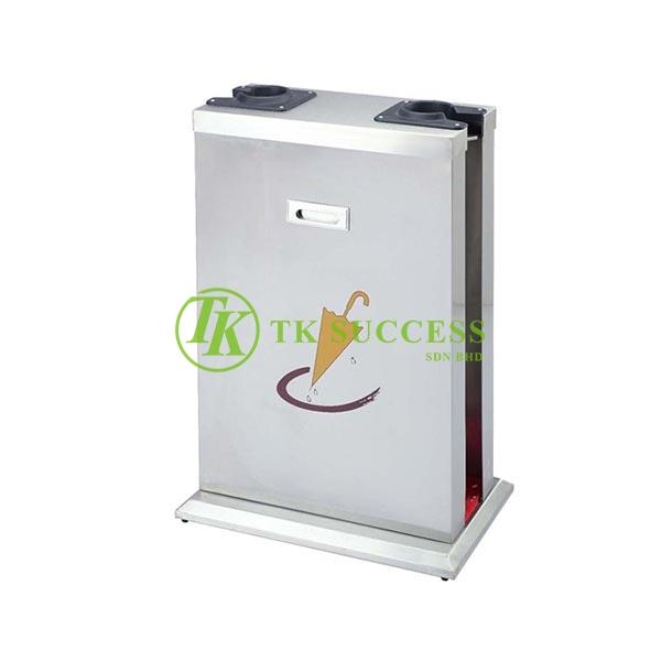 Stainless Steel Double Wet Umbrella Plastic Wrapper Dispenser