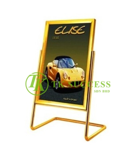 Gold Brass Poster Sign Board Stand
