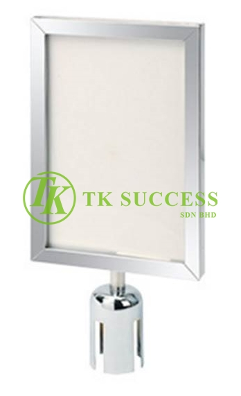 Stainless Steel A3 Vertical Sign Board Frame (For Belt Q Up Stand)