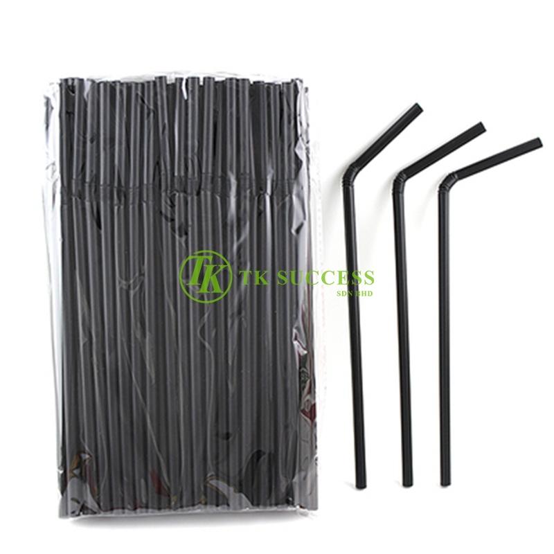 Black Flexible Straw