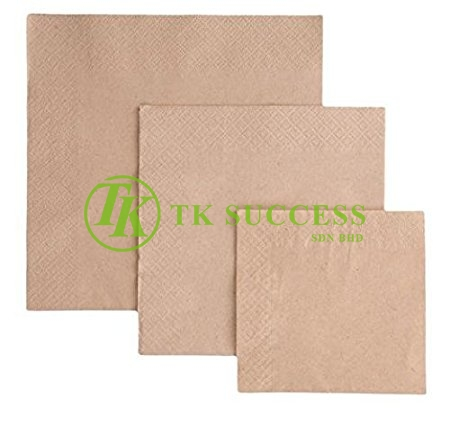 Brown Cocktail Napkins Tissue 1 PLY & 2 PLY