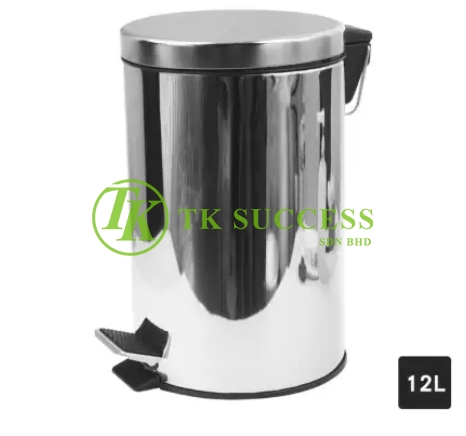 Stainless Steel Pedal Bin Normal 12 L