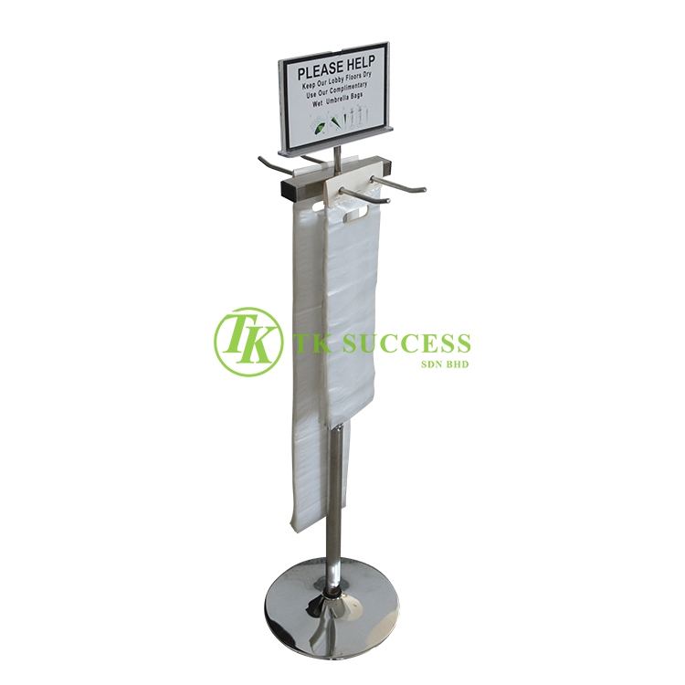 Stainless Steel Wet Umbrella Plastic Sleeve Stand