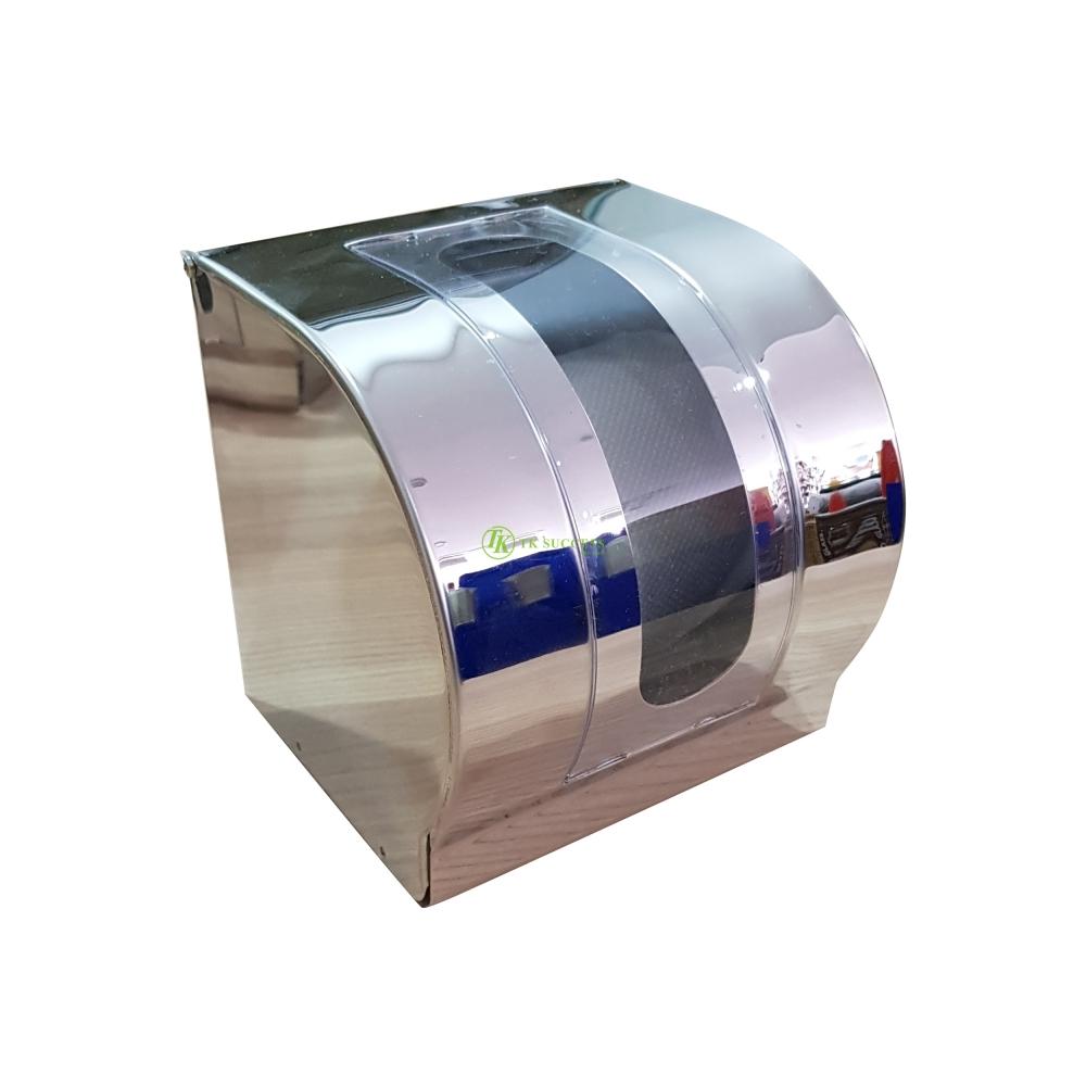 Stainless Steel Toilet Roll Tissue Dispenser (Transparent)