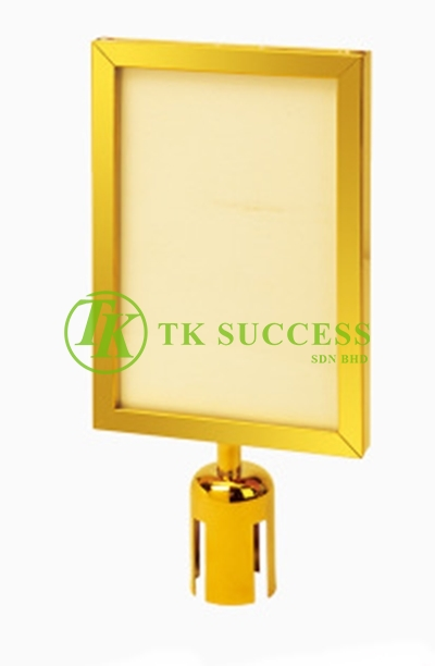 Gold Brass A3 Vertical Sign Board Frame (For Retractable Q Up Stand)