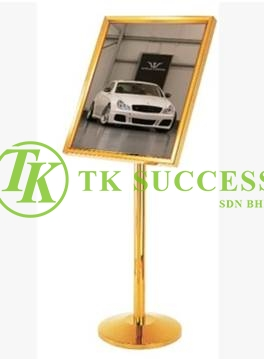 Gold Brass A2 Sign Board Stand (45 degree)