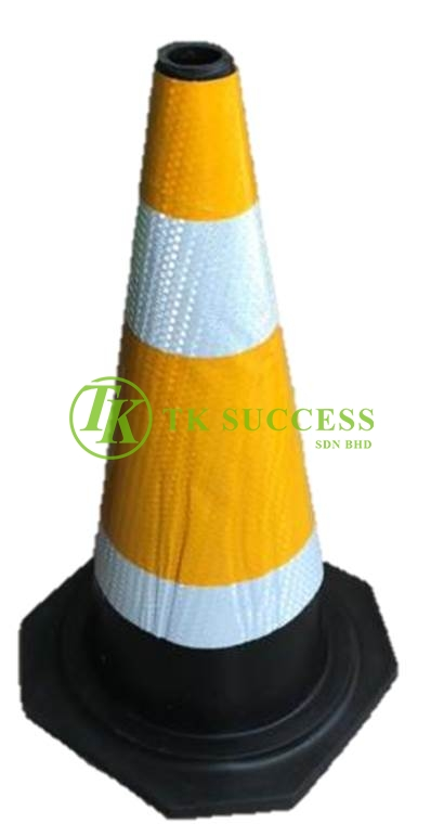 Traffic Cone 30 with Reflective Sticker (Rubber)