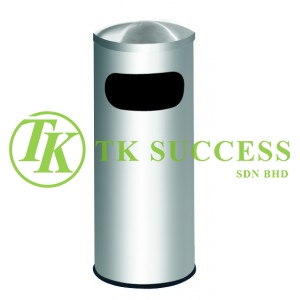 Stainless Steel Litter Bin c/w Dome Top