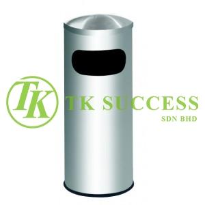 Stainless Steel Litter Bin c/w Dome Top