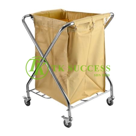 Stainless Steel X2 Linen Trolley