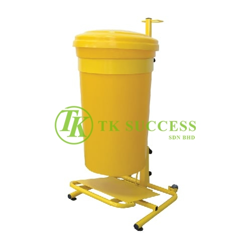 Clinical Waste Bin 45L c/w Powder Coating Pedal & Trolley