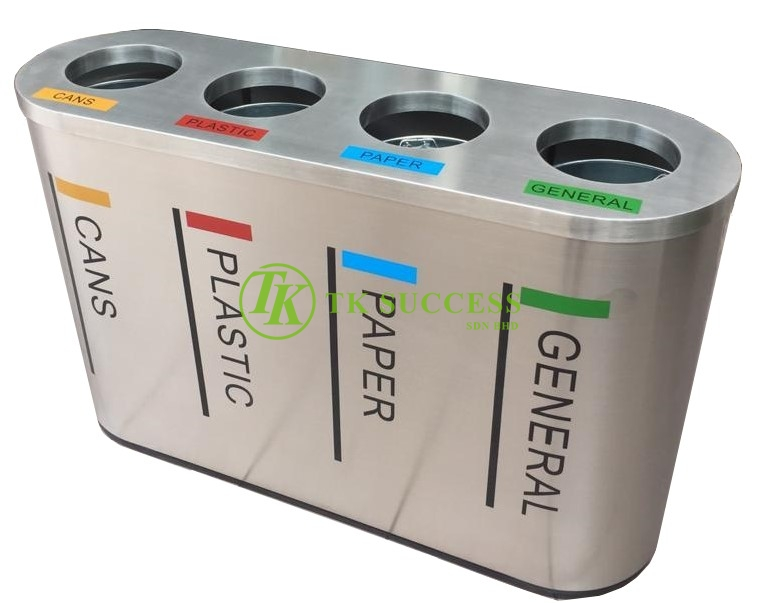 Stainless Steel Recycle Bin 4 in 1