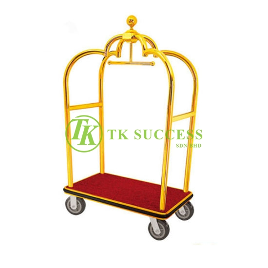 Gold Brass Birdcage Cart